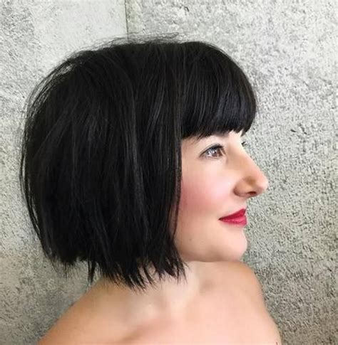 hairstyles with bangs cut straight across 25 best ideas about blunt bangs on pinterest long bob