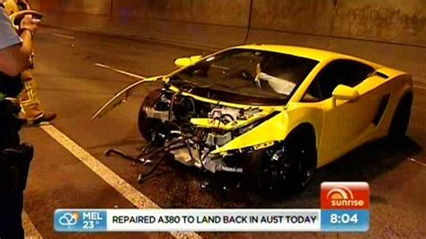 Melbourne Lamborghini Lamborghini Gallardo Crash Melbourne April 2012