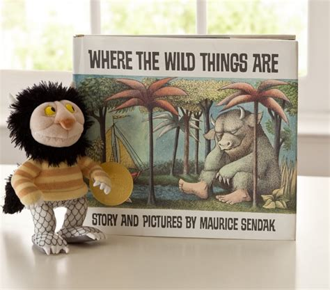 where the things are picture book where the things are book plush set pottery barn