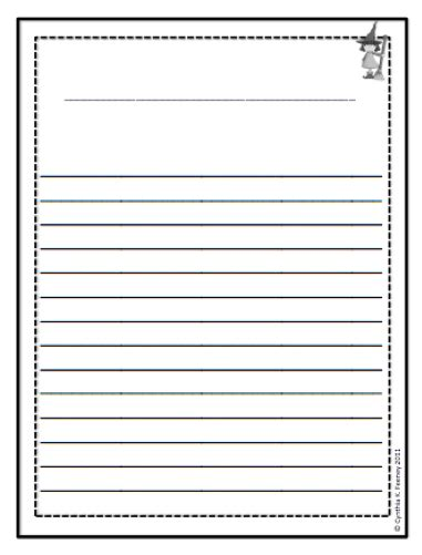 lined writing paper for 2nd grade image printable 2nd grade writing paper template