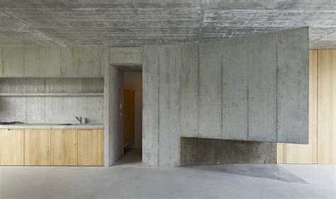 Long Narrow Apartment Floor Plans ode to in situ concrete house in basel detail
