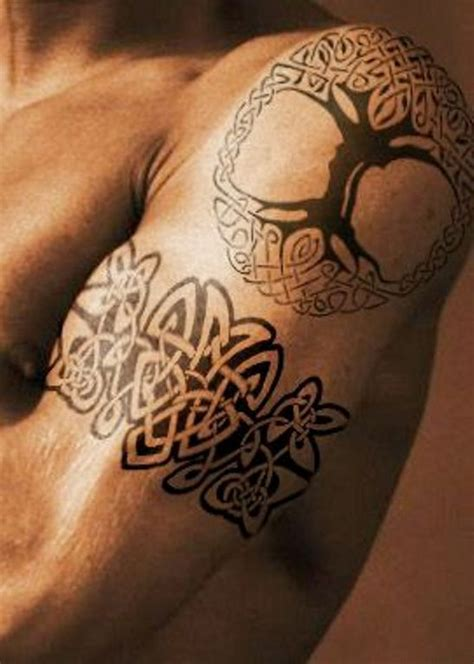 69 Cool Celtic Shoulder Tattoo Celtic Tree Tattoos Designs 3