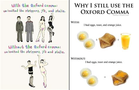 Oxford Comma Meme - grammar nazis what are the popular grammar mistakes that