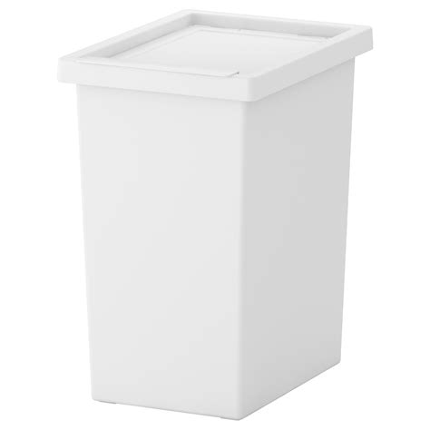 ikea storage bins filur bin with lid white 28 l ikea