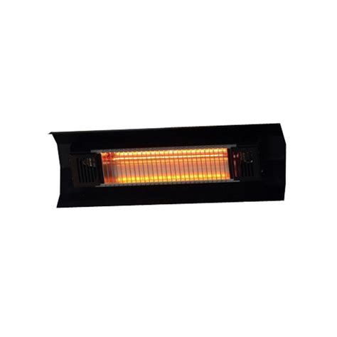 Fire Sense 1 500 Watt Black Wall Mounted Infrared Electric Infrared Patio Heaters Electric