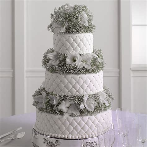 Quilted Fondant Cake by Quilted Fondant Cake With Baby S Breath And Gladiolus Call Us 206 728 2588 Seattle Flowers