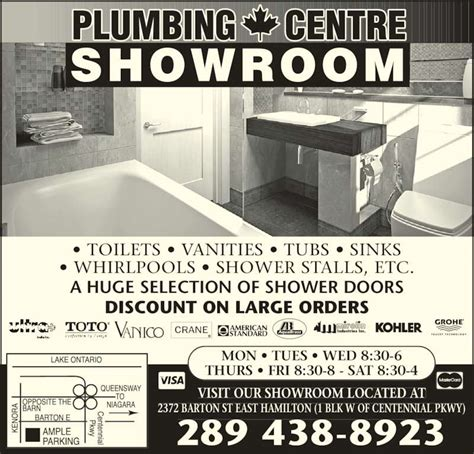 The Plumbing Centre Hamilton plumbing centre 2372 barton st e hamilton on