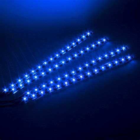 image 4 pcs 30cm blue motorcycle car lights