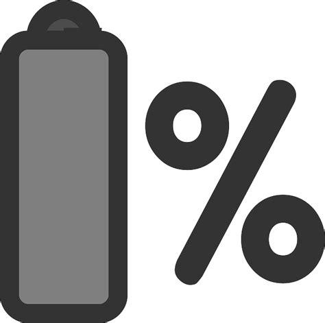 flat laptop battery theme percentage icon public domain pictures  pictures