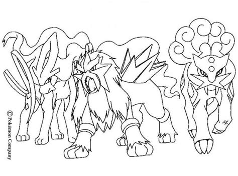 pokemon coloring pages raikou raikou and electric friends coloring pages hellokids com