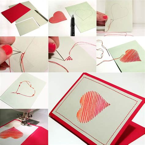 Creative Ideas For Handmade Greeting Cards - how to diy embroidered greeting card