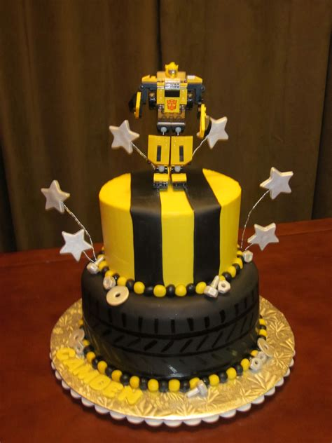 bumblebee transformer my t 4th birthday cake 8 quot and