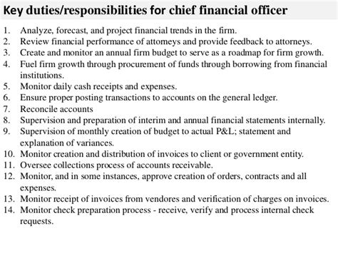 chief financial officer description