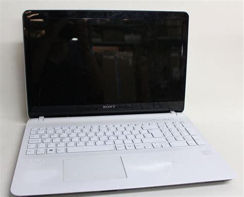 Laptop Sony Ram 4gb sony vaio fit svf1521j1ew white 15 5 quot 4gb ram 750gb 1 9ghz windows 8 1 laptop ebay