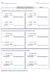 estimating sums amp differences worksheets