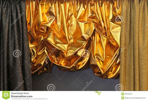 Shiny Gold Curtains Shiny Gold Curtains Luxurious Shiny Gold Curtains Stock Image Image 3180951 Shiny Gold