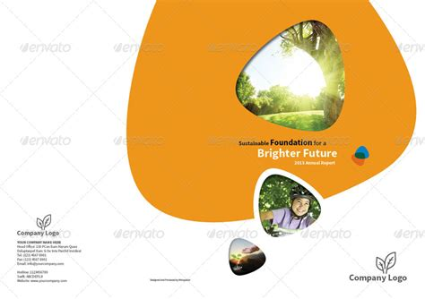 Annual Report Design Template Vol 1 By Thinqueber Graphicriver Foundation Annual Report Template
