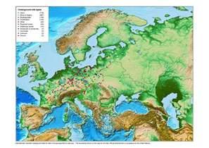 mountain ranges map mountain ranges in europe map