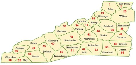 map of western carolina wims county id maps