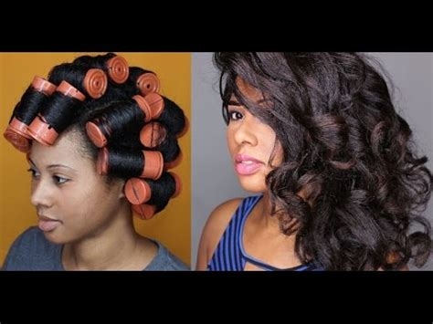 use large rollers when give a permanet wave on long hair how to jumbo perm rod set youtube