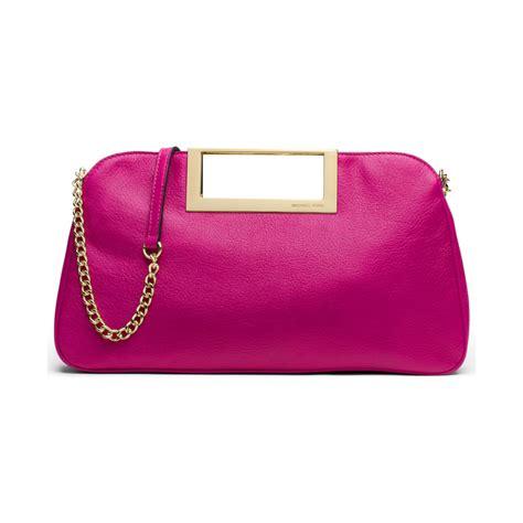 Michael Kors Pink Fuschia michael kors michael berkley large clutch in pink fuschia lyst