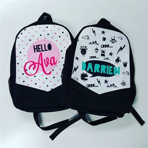personalised kids backpacks daycare bags school bags