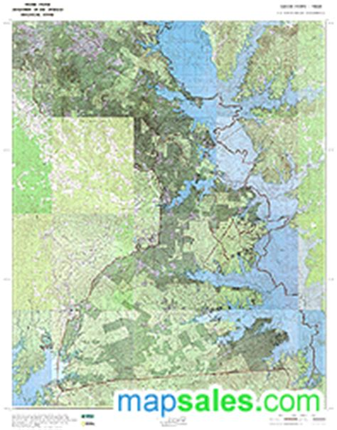sabine county texas map topographic wall maps