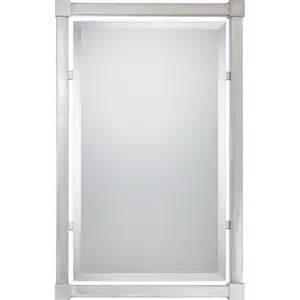nickel framed bathroom mirror quoizel brushed nickel mirror