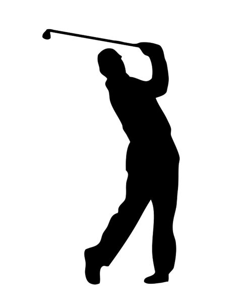 golf swing silhouette image gallery golf outline