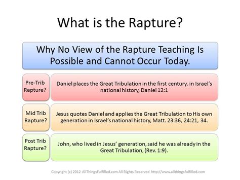 What Is The What Is The Rapture Eschatology Allthingsfulfilled