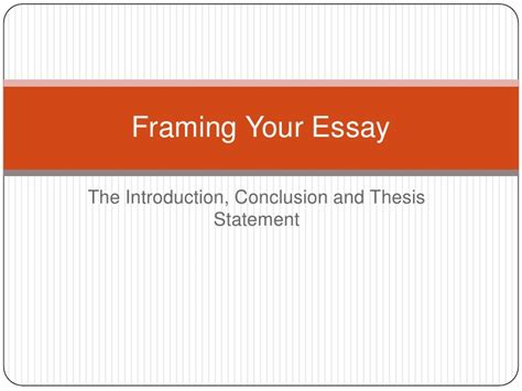 Intro And Thesis by Intro Thesis And Concl