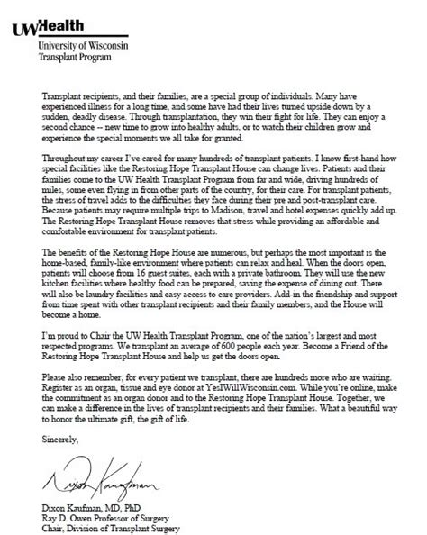 Letter Of Support For Affordable Housing Restoring Transplant House Letter Of Support Dixon Kaufman