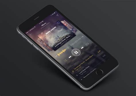 iPhone 6 Music App Design(PSD)   Free PSDs & Sketch App