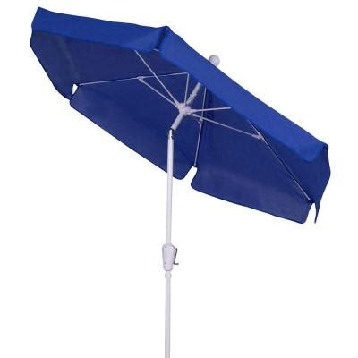 Home Depot Patio Umbrellas Fiberbuilt Umbrellas 7 5 Ft Patio Umbrella In Pacific Blue 7gcrw T Pacblue The Home Depot