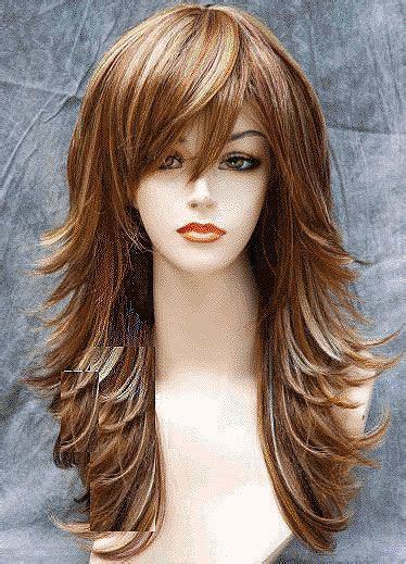 flip out gorgeous layered auburn style with side flip back extremely long side latered flipped up hair on sides