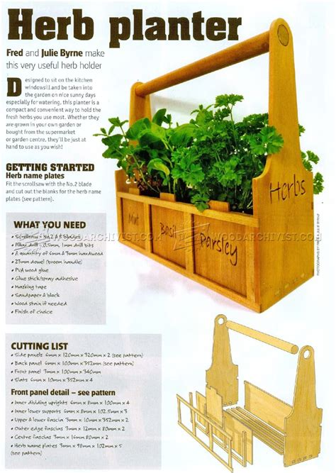 herb planter plans woodarchivist