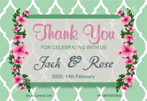 Kartu Ucpan Terima Kasih 1 jual kartu ucapan terima kasih colour untuk souvenir