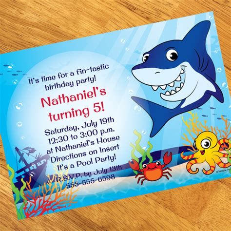 baby shark invitation shark friends personalized invitations