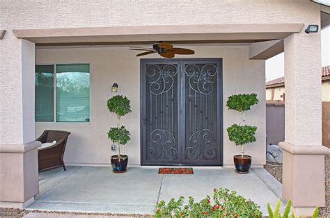 Security Patio Screen Doors Scroll Security Screen Door By Impression Security Doors Mediterranean Patio