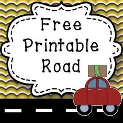 printable road template free printable road for creating towns great geography