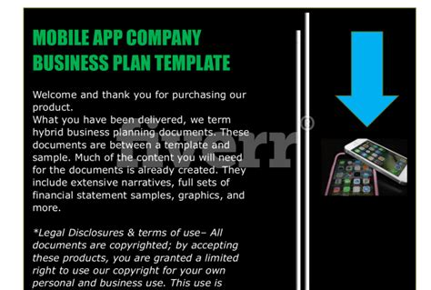 mobile app planning template mobile app business plan template fiverr