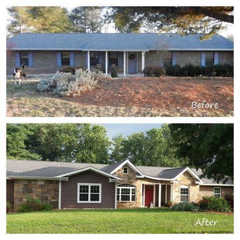 brick house renovation before and after remodeled ranch homes before and after before and after exterior renovation ranch