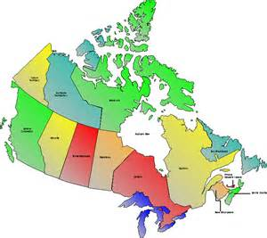 canada map with provinces capitals and territories images