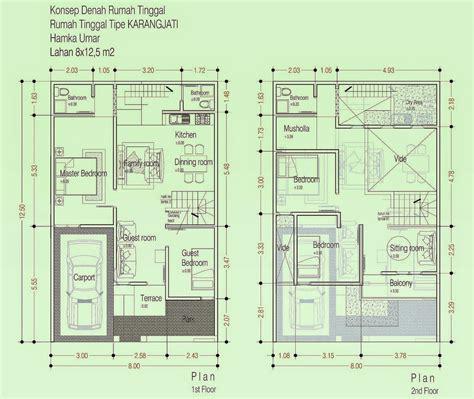 sketsa denah rumah minimalis  lantai  lantai terbaik modern