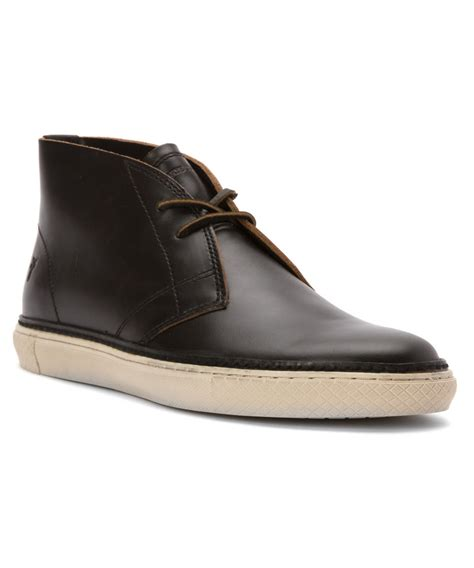frye mens sneakers frye s gates chukka boots in black for lyst