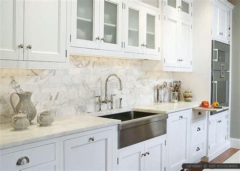 4 white calacatta gold marble subway white countertop idea
