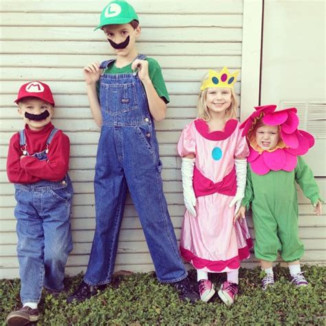 group handmade mario  luigi costumes  awesome