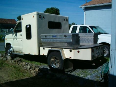 Dually Sleeper by Purchase Used 1986 Ford E350 Dually Flatbed With Sleeper