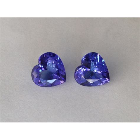 bluish purple color tanzanites bluish purple color shape pair 4