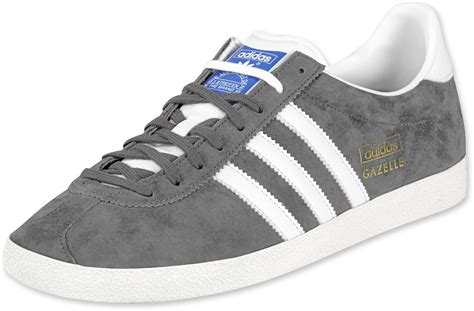 Adidas Grey adidas gazelle og shoes grey white